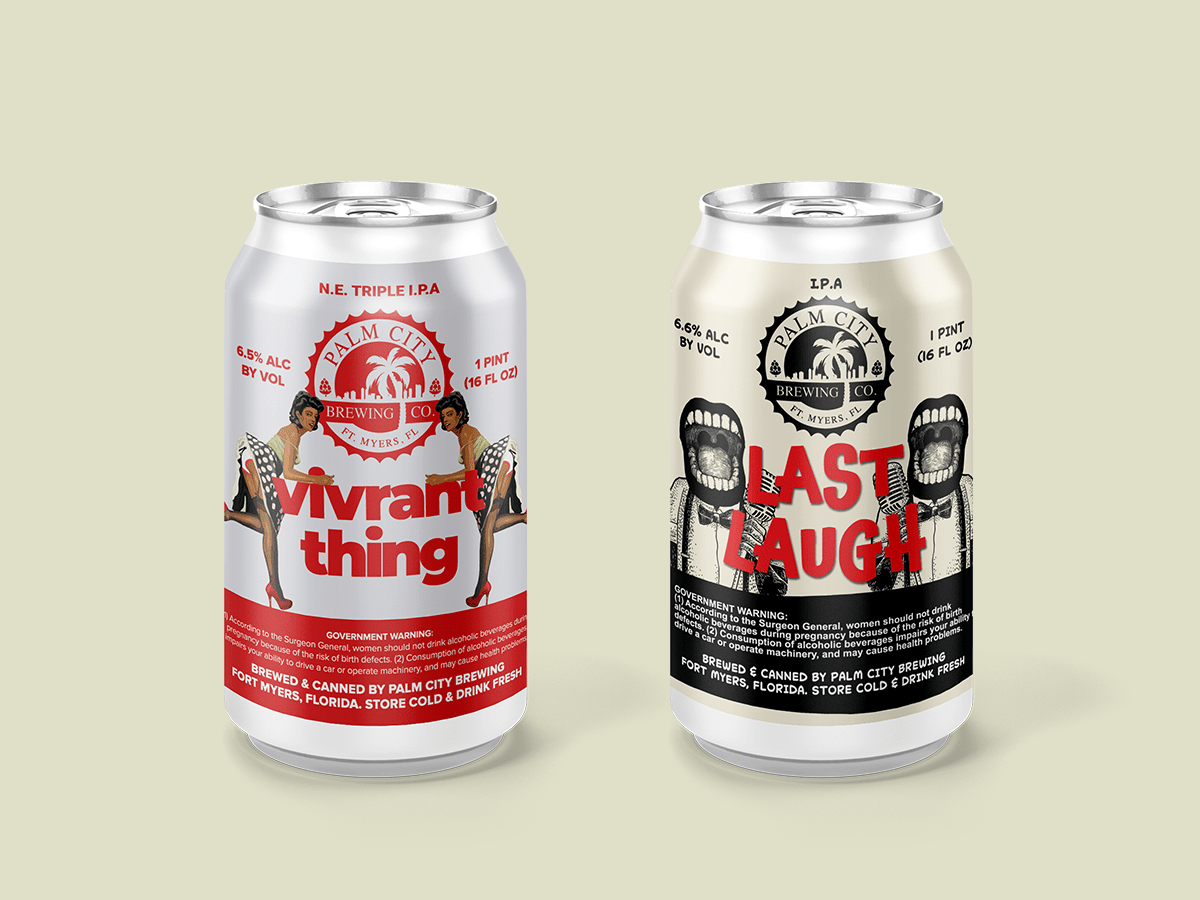 Last Laugh and Vivrant Thing Beer Label Design