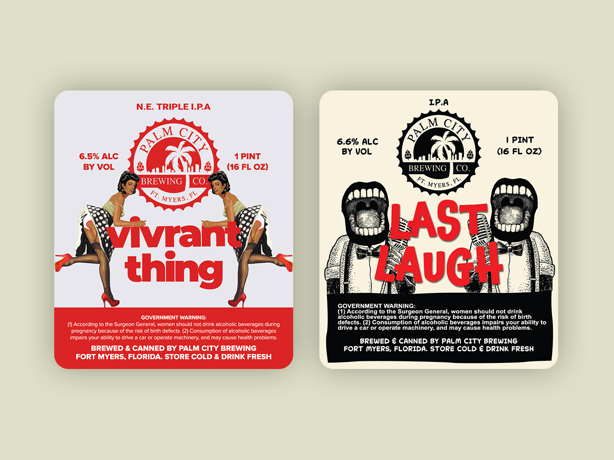 Last Laugh and Vivrant Thing Beer Label Blank