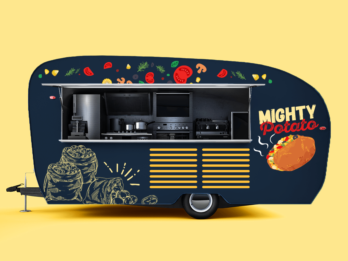 Mighty Potato Food Truck Design