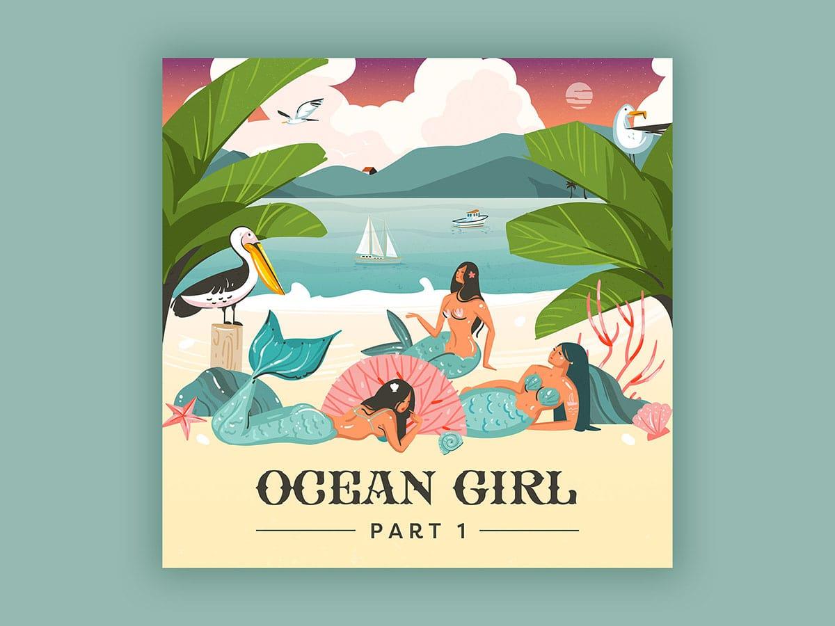 Ocean Girl Album Illustration