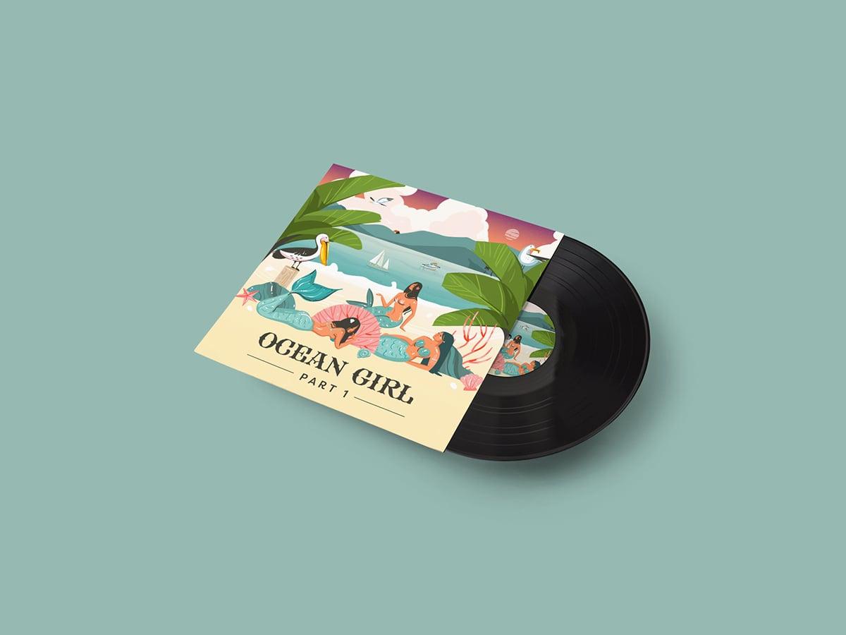 Ocean Girl CD Mockup