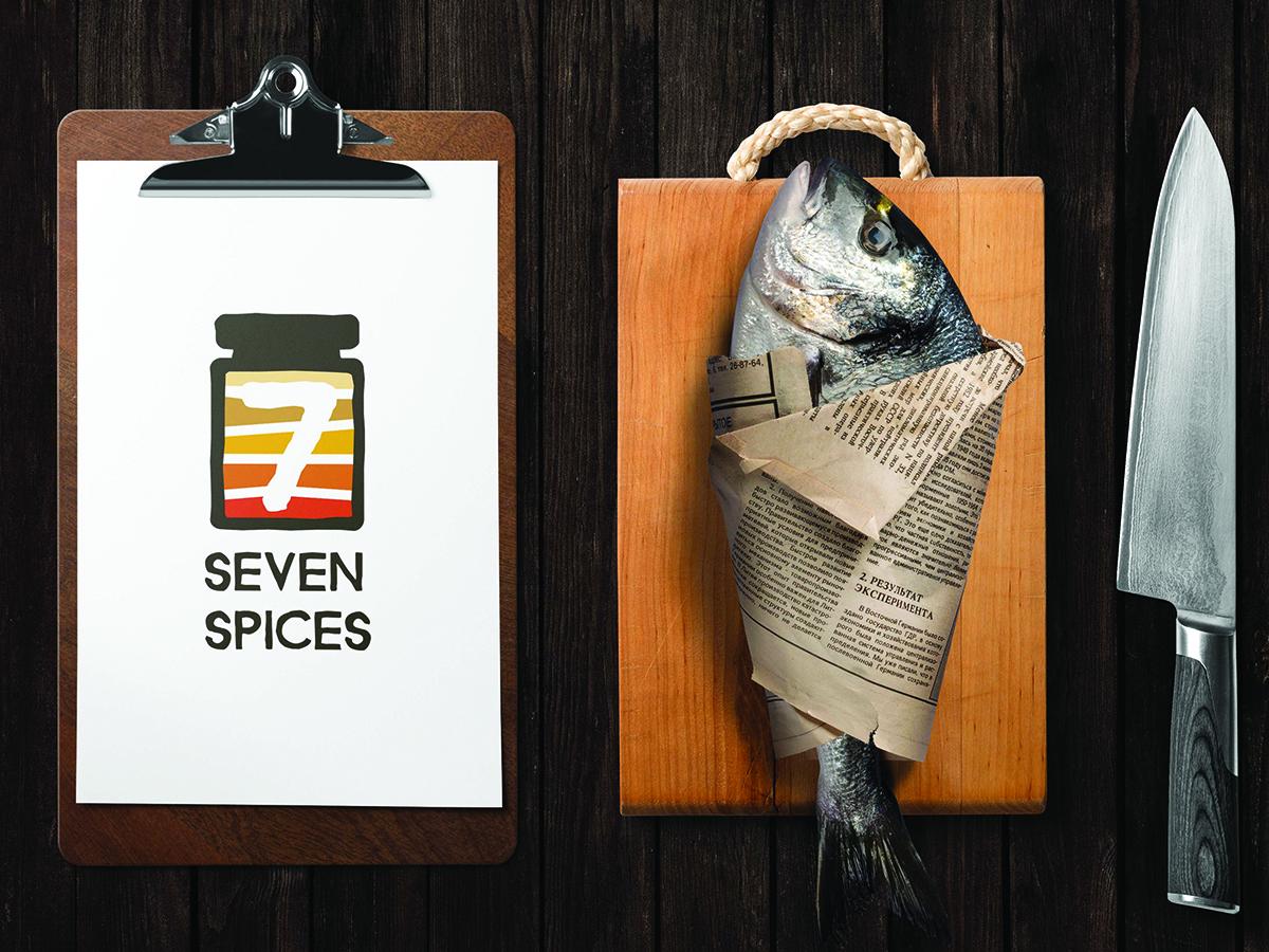 Seven Spices Logo Mockup
