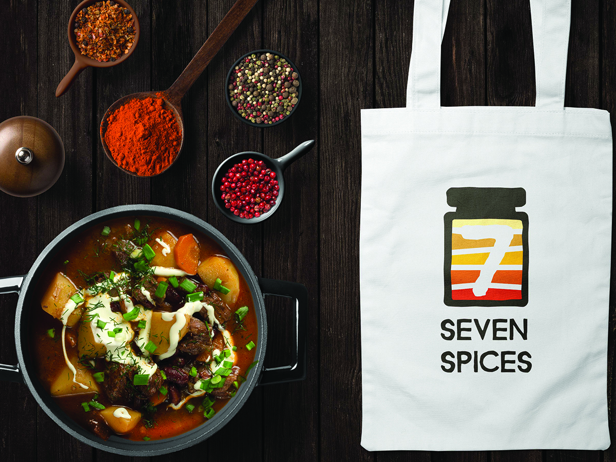 Seven Spices Logo on Bag