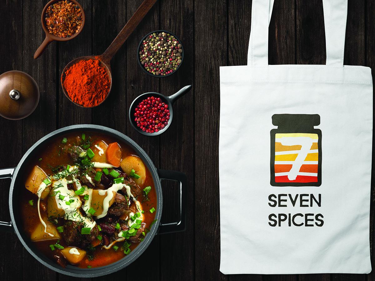 Seven Spices Logo on Bag