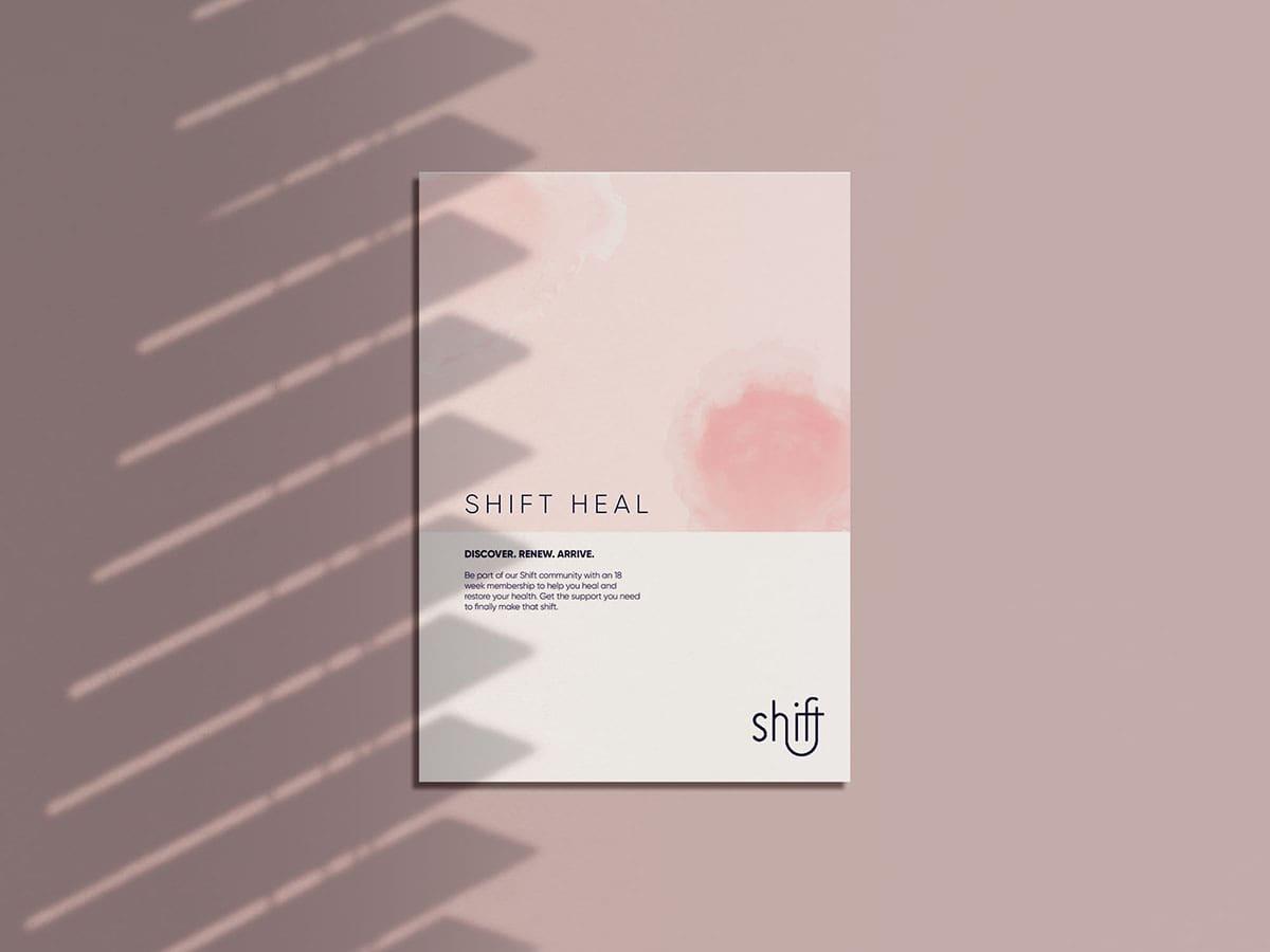 Shift Health Membership Brochure Flat Mockup