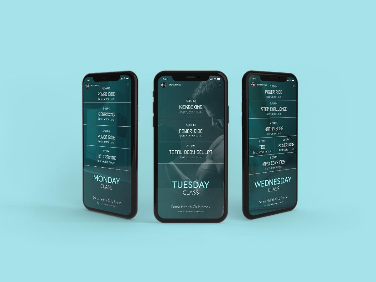 SomaBronx Mobile App Mockup