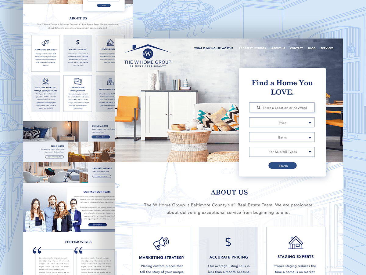 WHome Web Design Details
