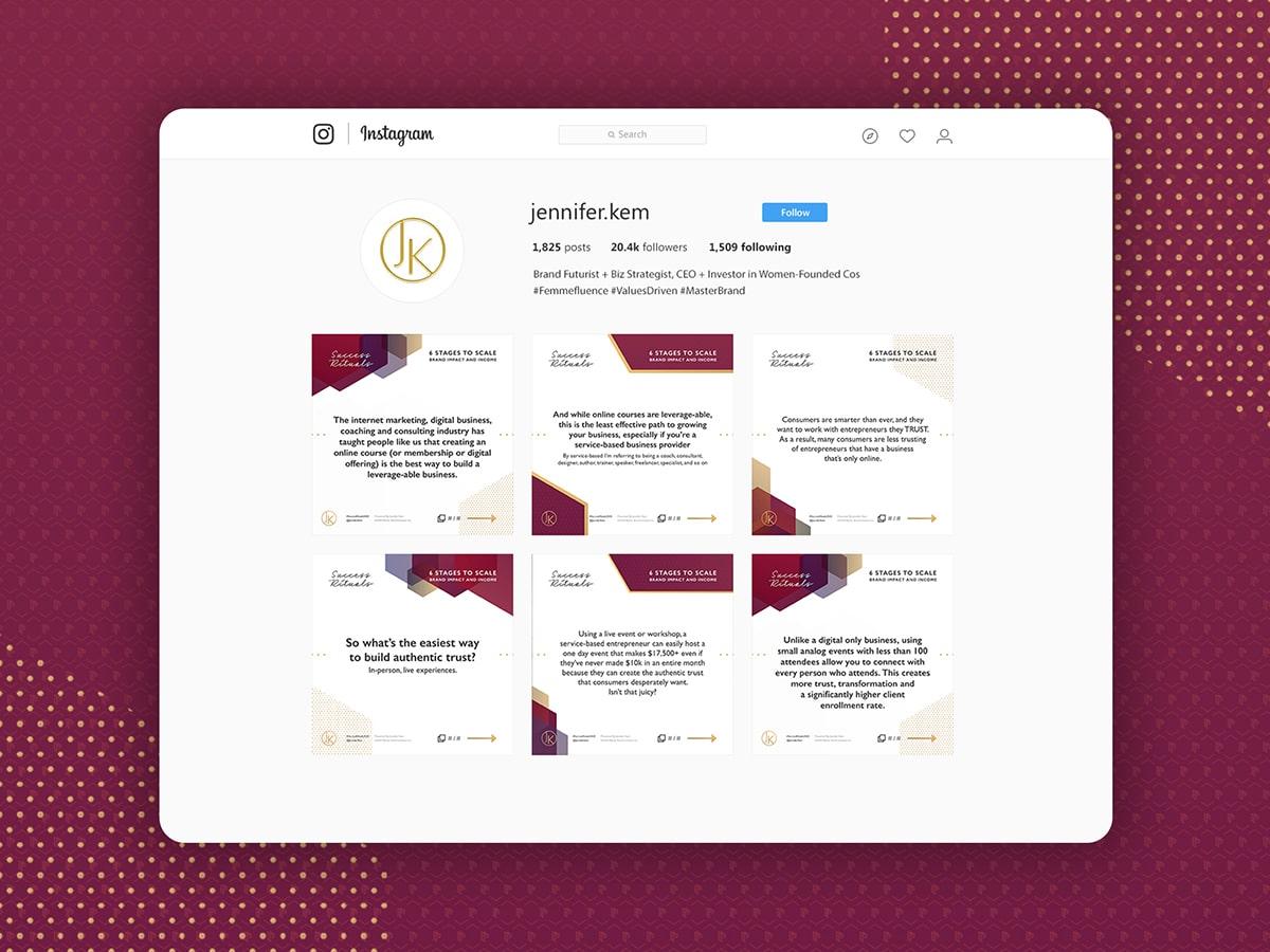 Master Brand Institude Social Media Posts