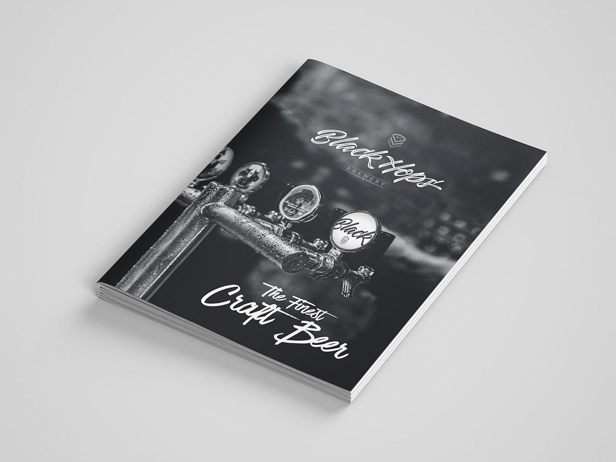 BlackHops Brochure Design