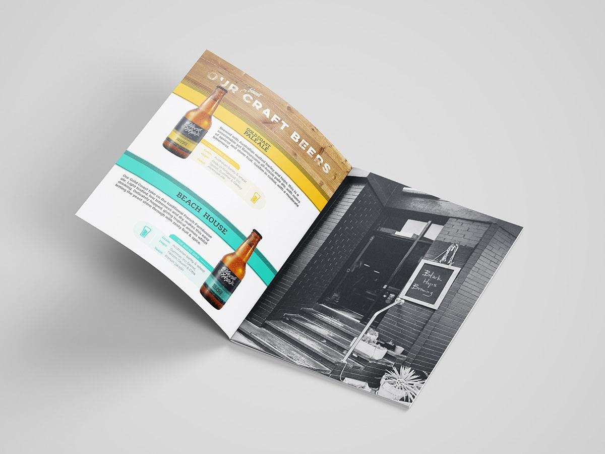 BlackHops Brochure Inner Page Design