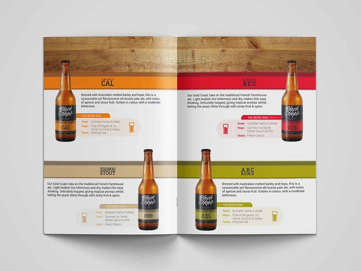 BlackHops Brochure Spread Design