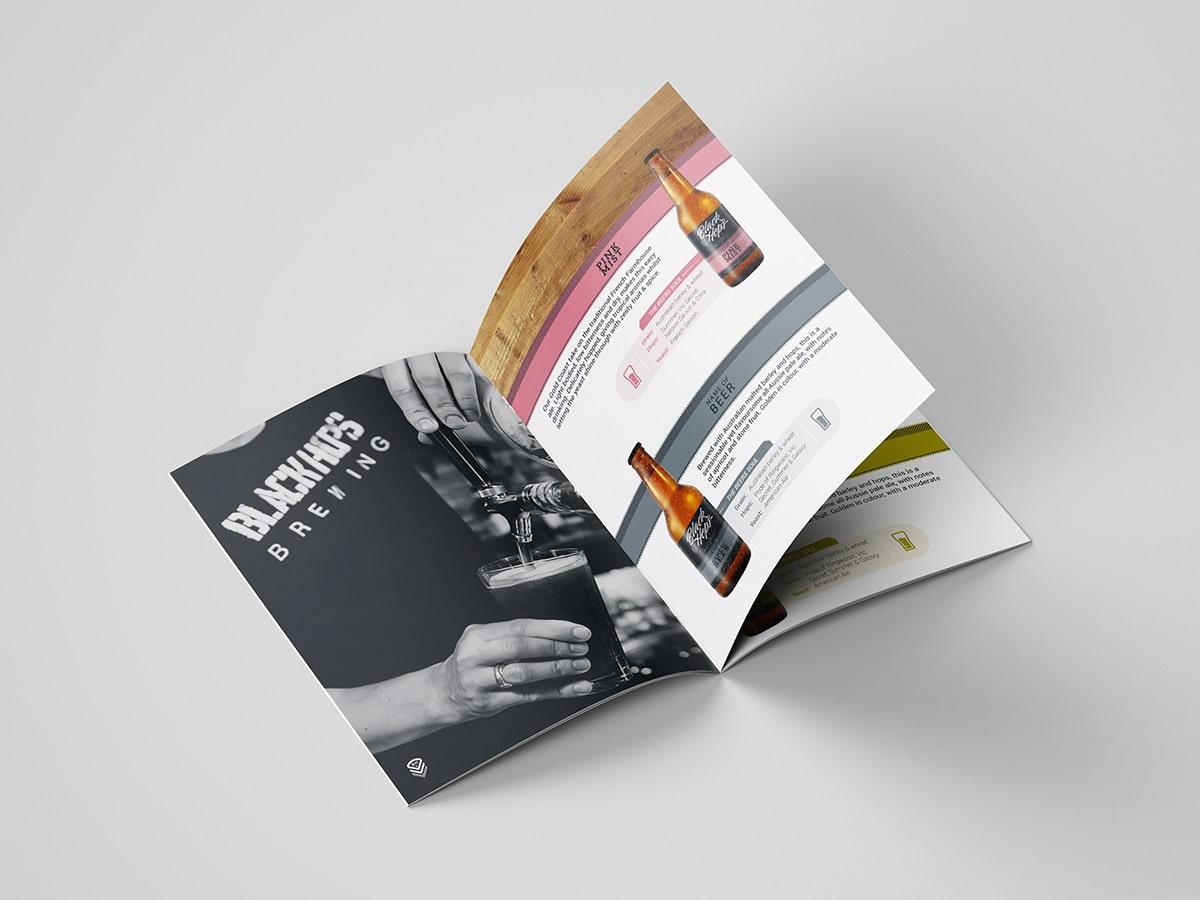 BlackHops Brochure Mockup