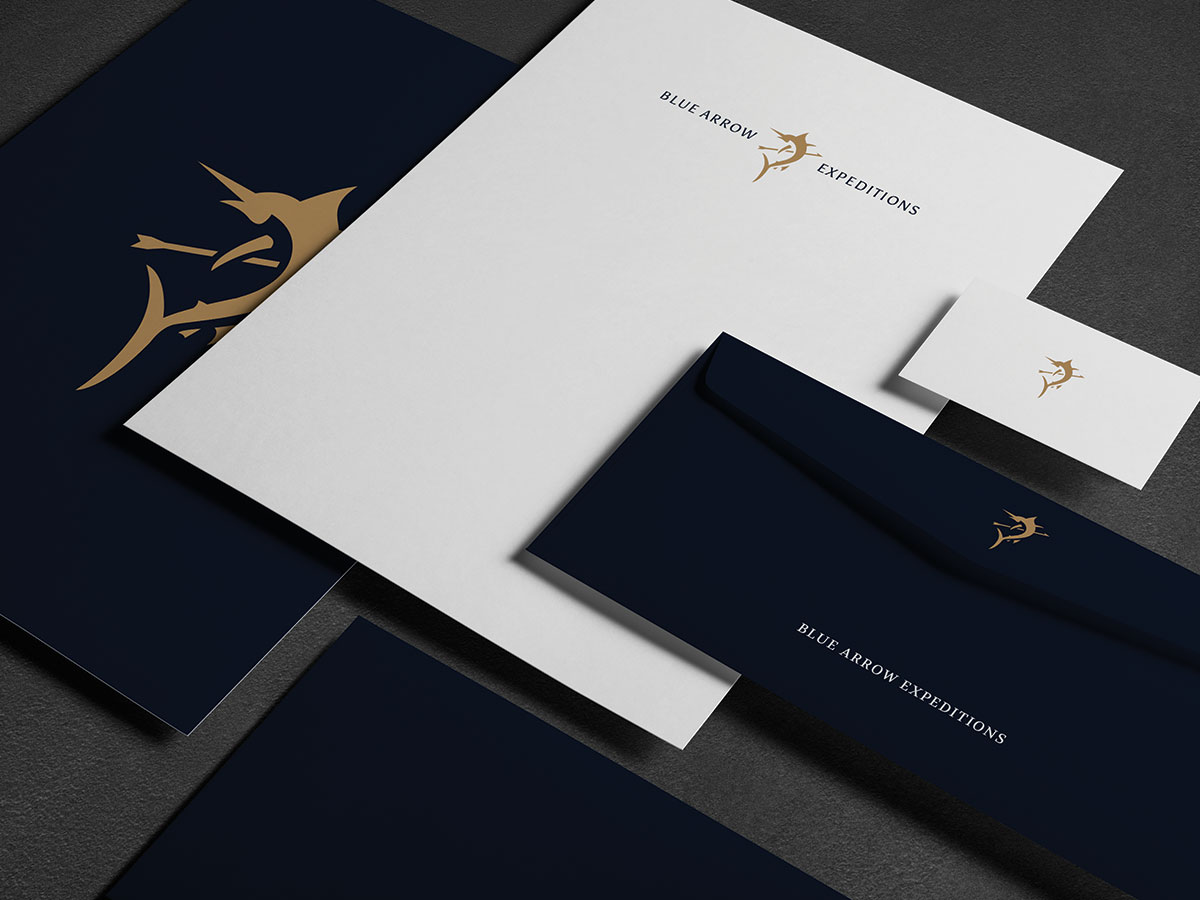 Blue Arrow Expeditions Logo Stationary