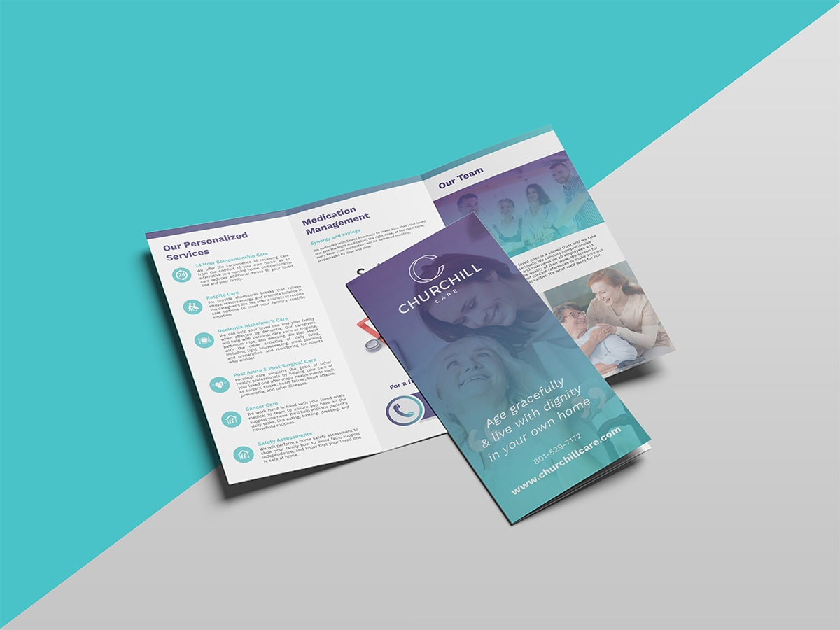Church Hill Care Brochure Mockup