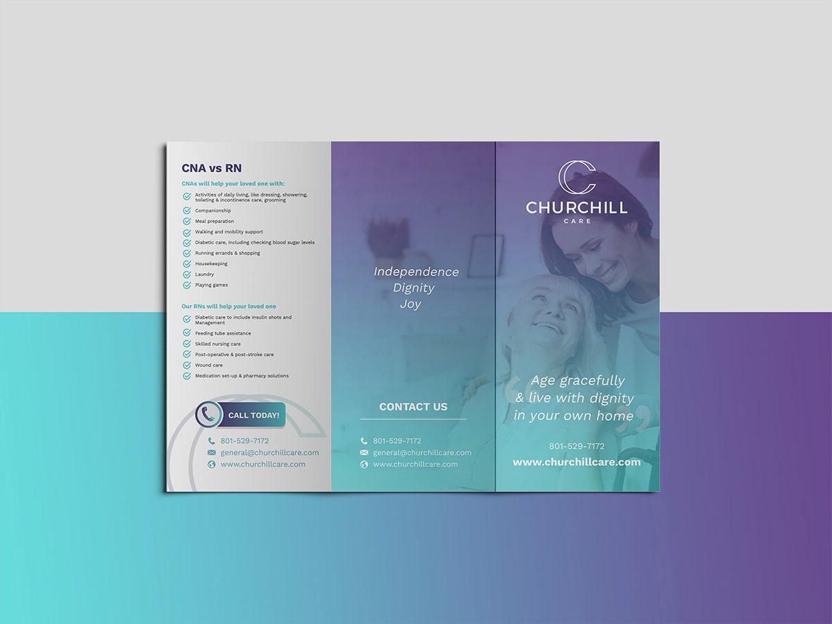 Church Hill Care Brochure Design