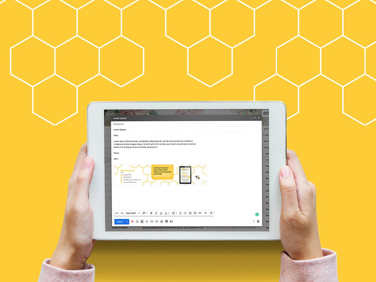 Curate Bee Email Signature Mockup