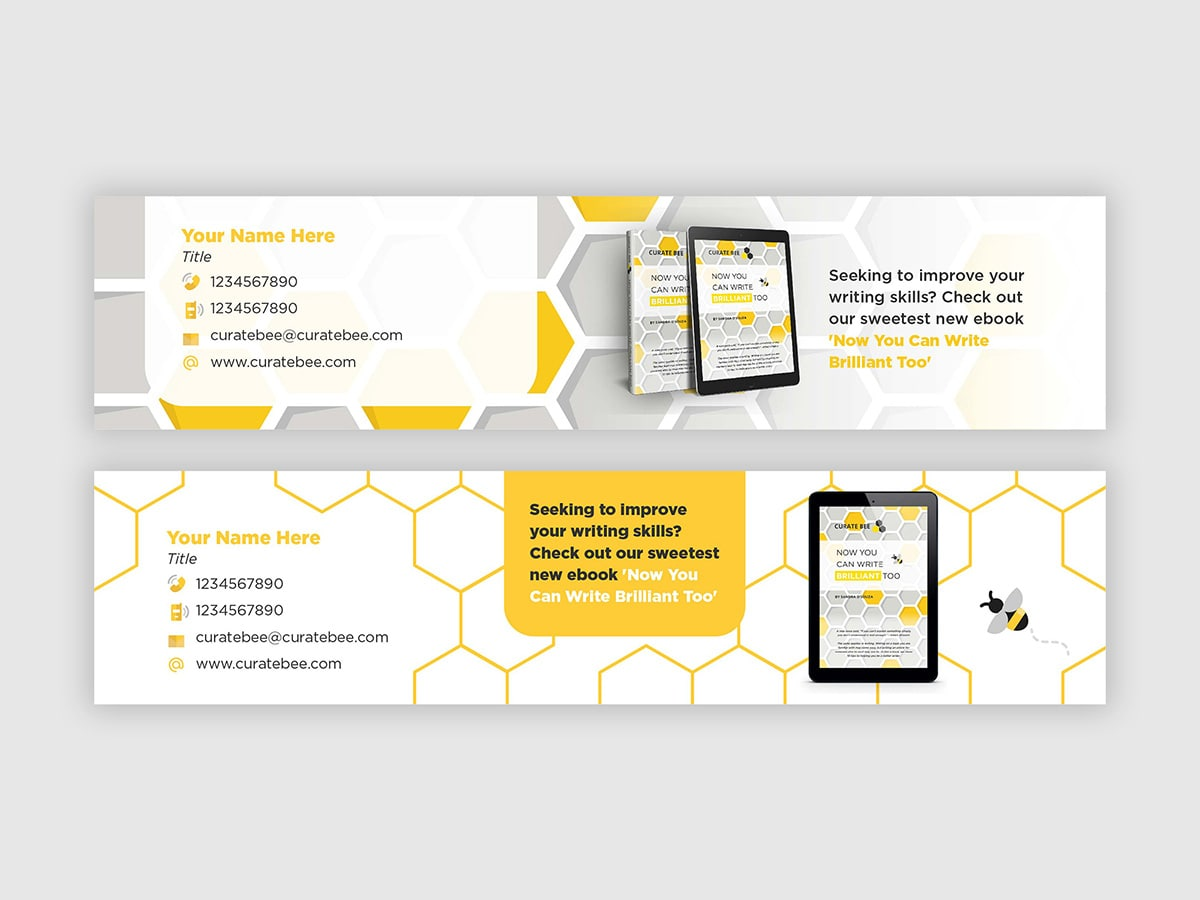 Curate Bee Email Signature Design