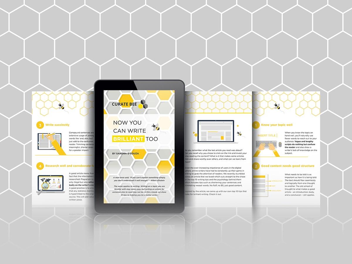 Curate Bee Lead Magnet iPad