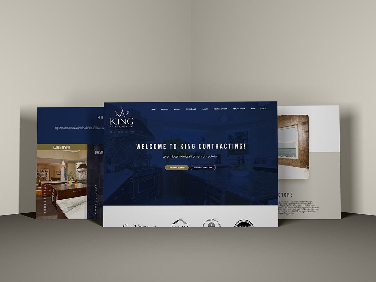 Doug King Contracting Website Redesign