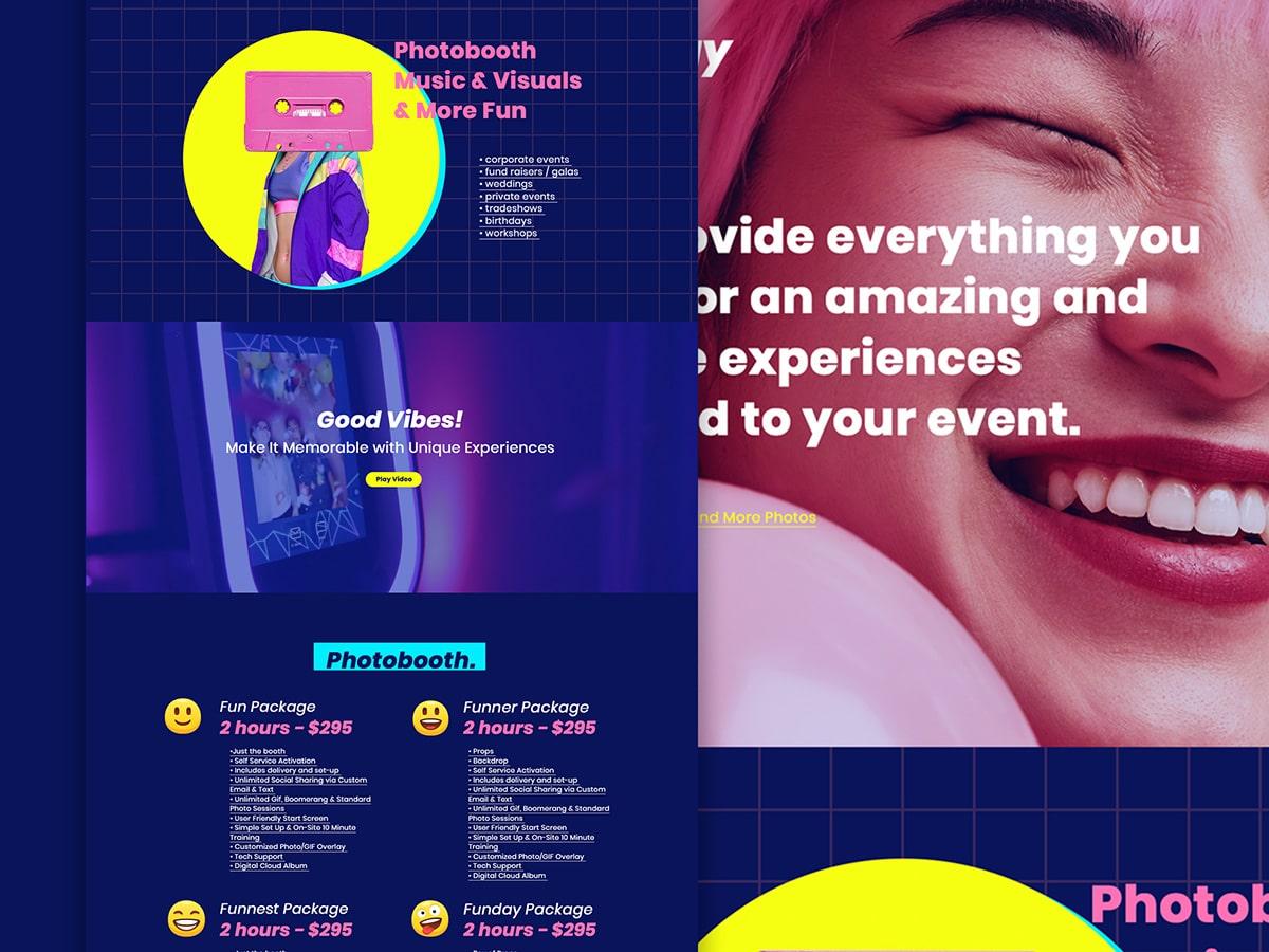 Hey Funday Website Design Closeup