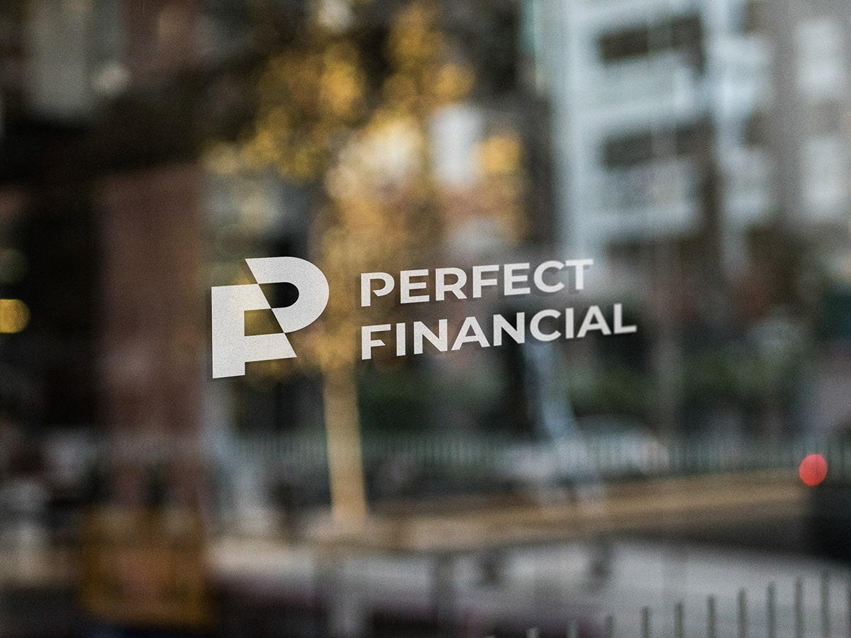 Perfect Financial Logo Mockup Window