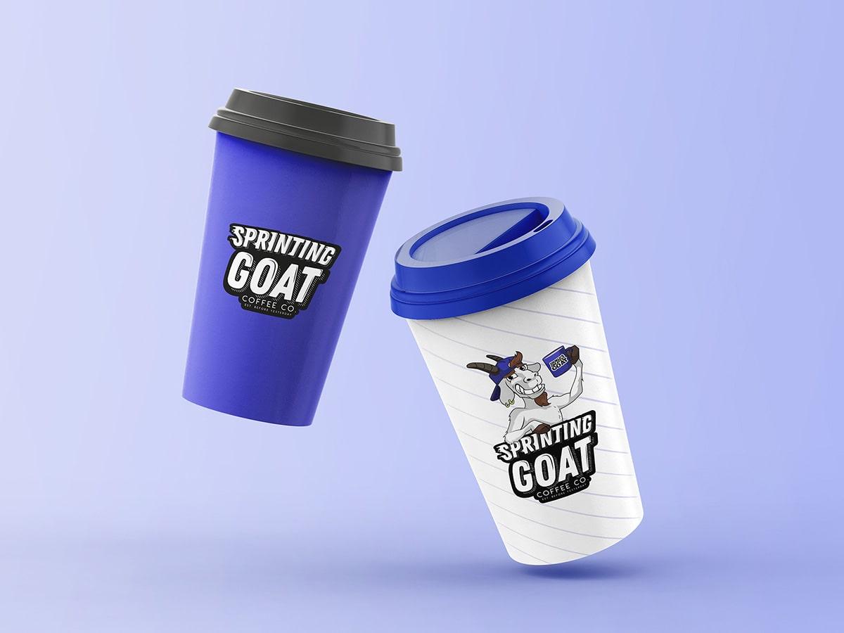 Pet Mio Sprinting Goat Logo Mockup