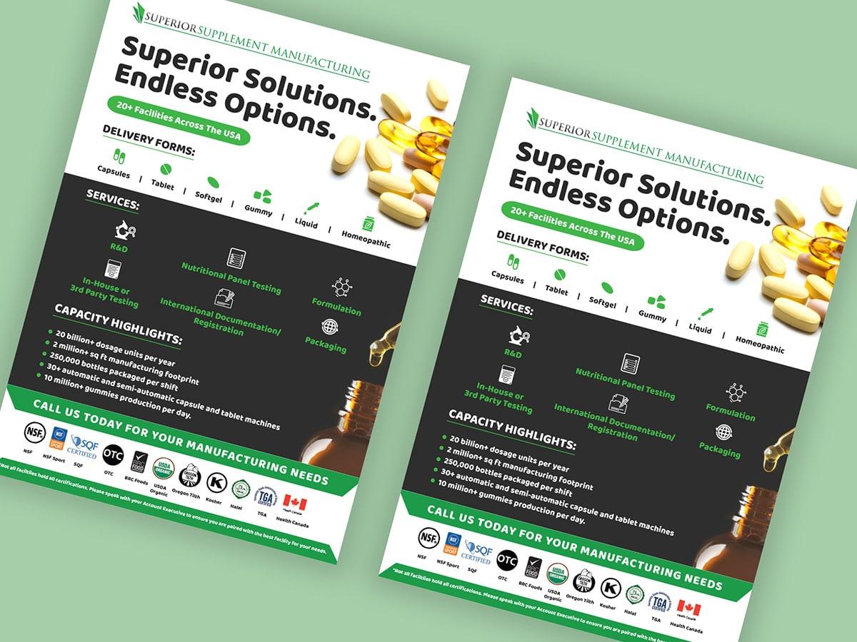 Superior Supplements Flyer Mockup