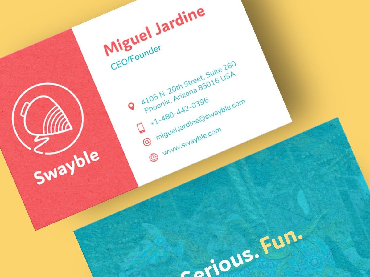 Swayble Business Card Design