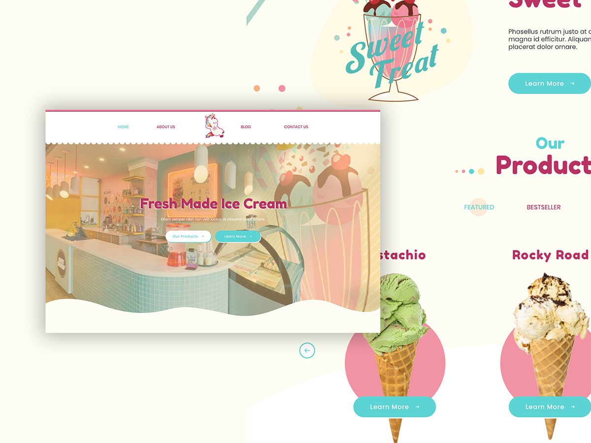 Sweet Treats Website Design