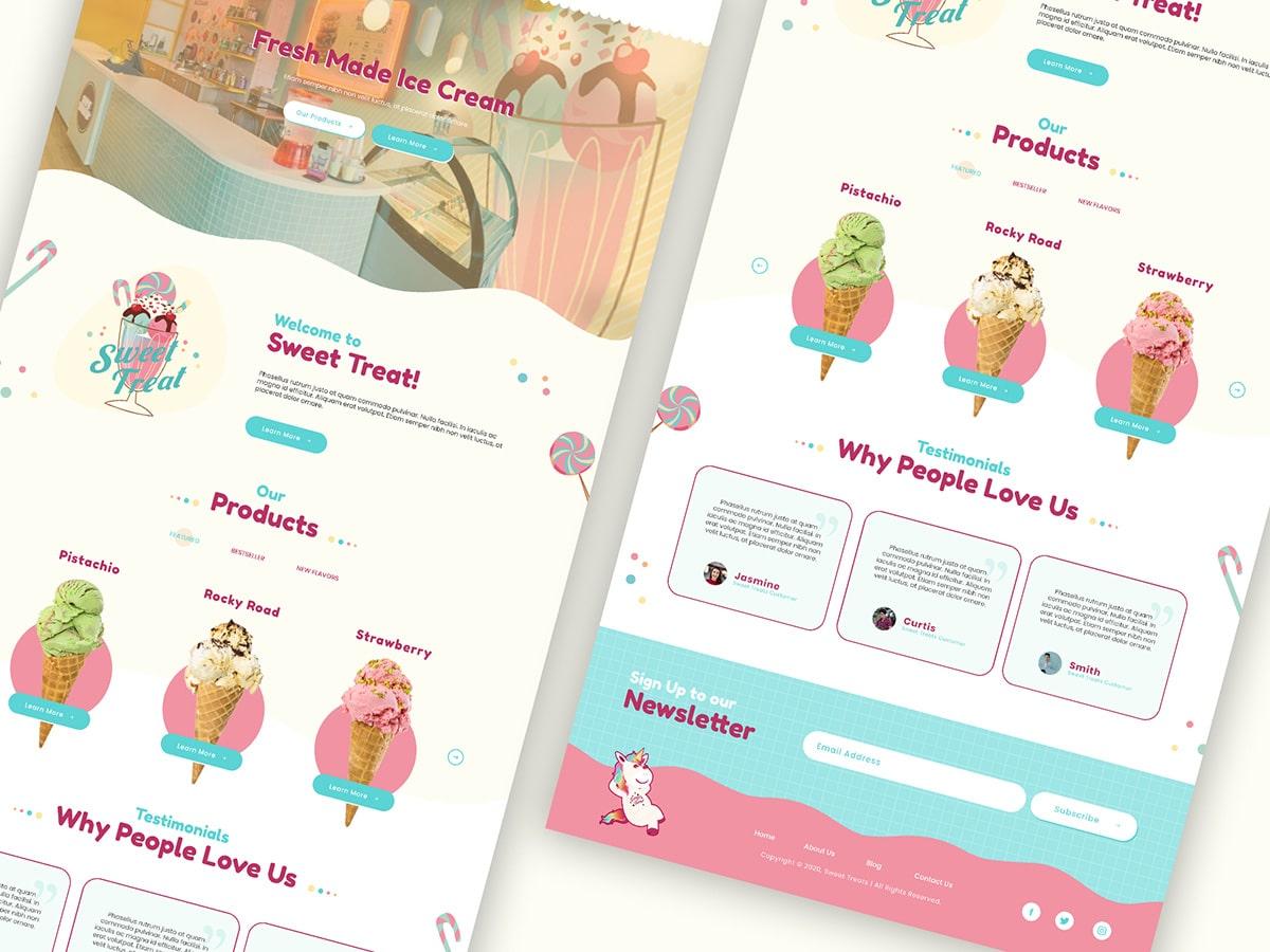 Sweet Treats Website Layout
