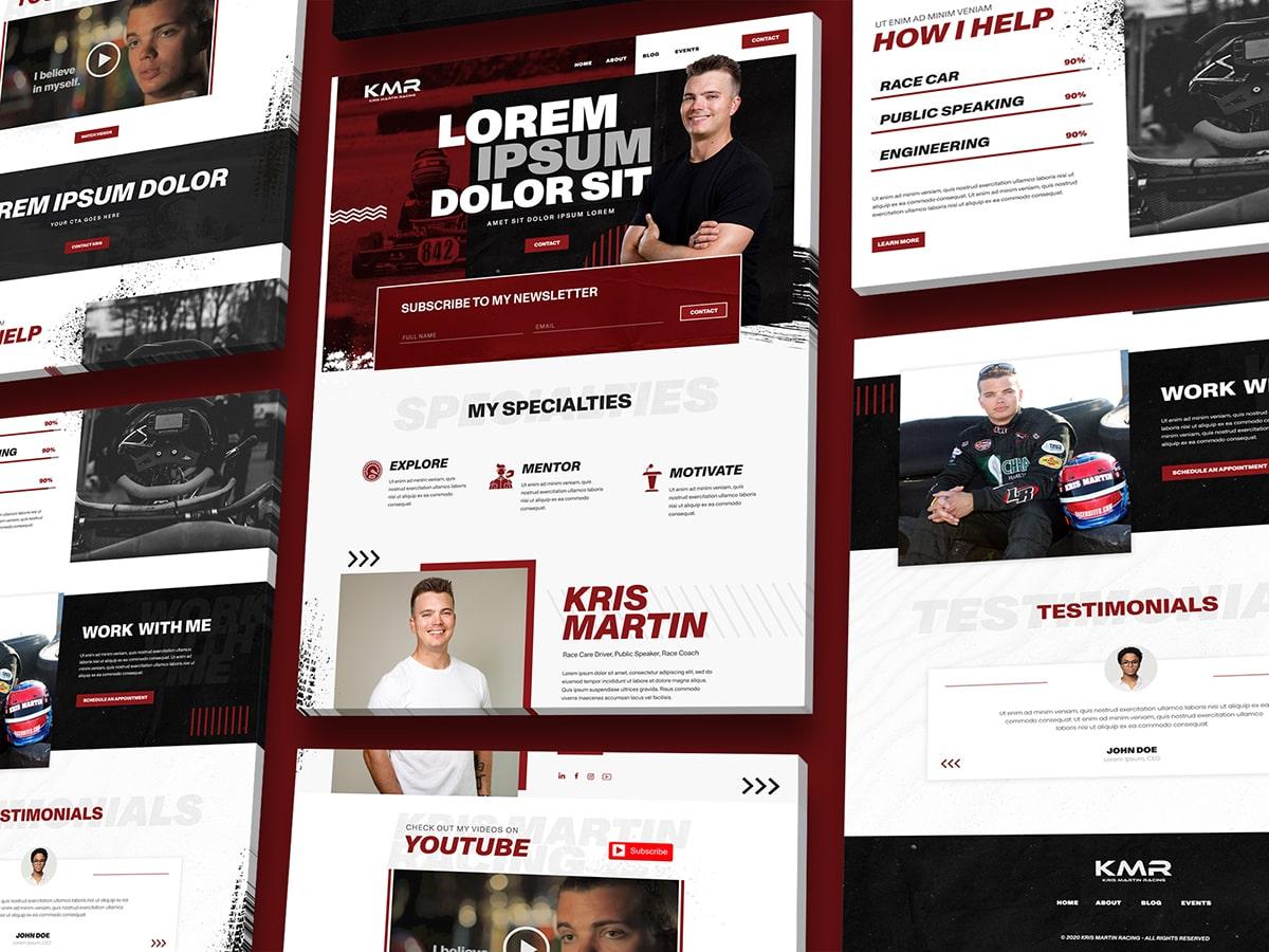 Kris Martin Racing Web Examples