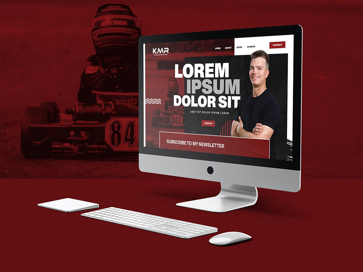 Kris Martin Racing Web Mockup