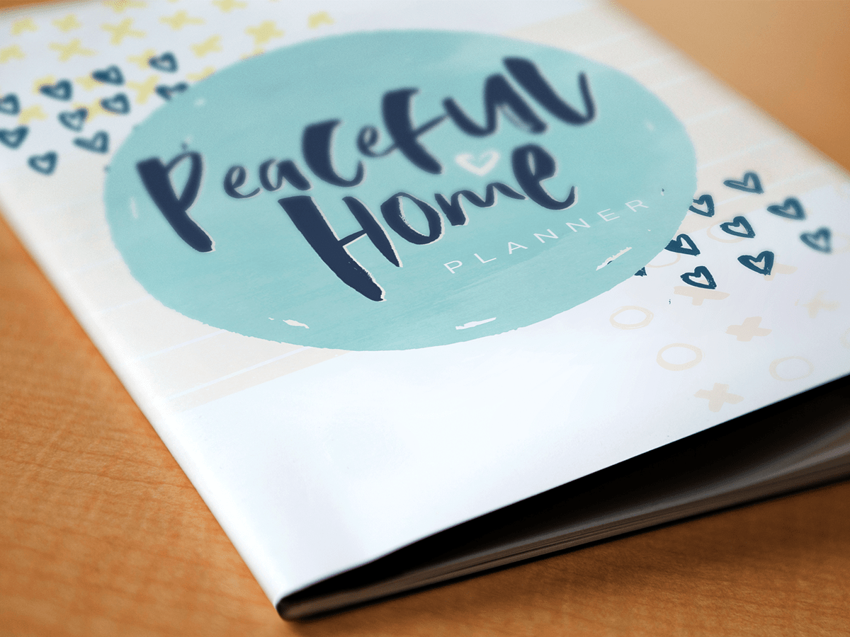 Peaceful Home Planner Cover Design
