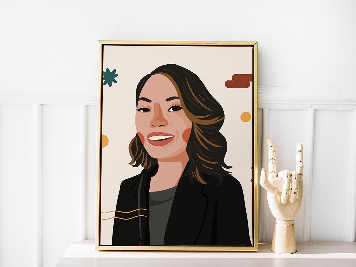 Female staff illustration