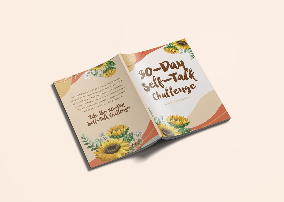 30Day Self Talk Challenge Front & Back Design