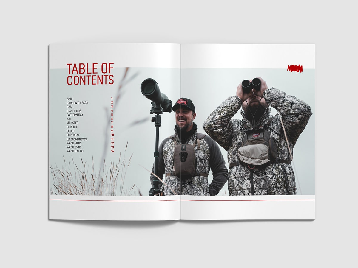 Badlands 2020 Catalog Table of Contents