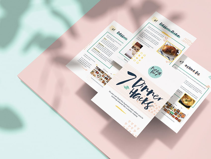 A layflat graphic pack of gorgeous designs