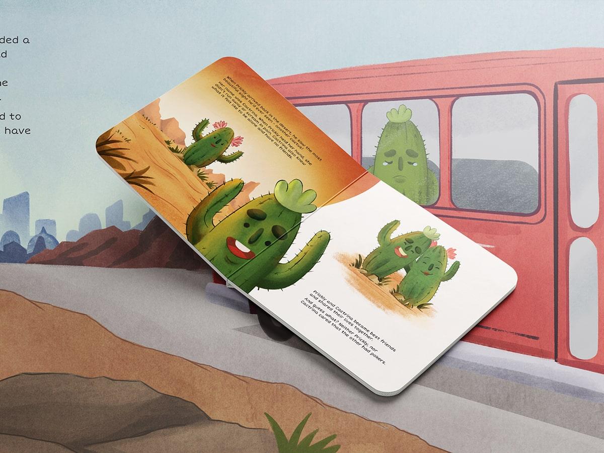 Childrens Book Illustration Cactus