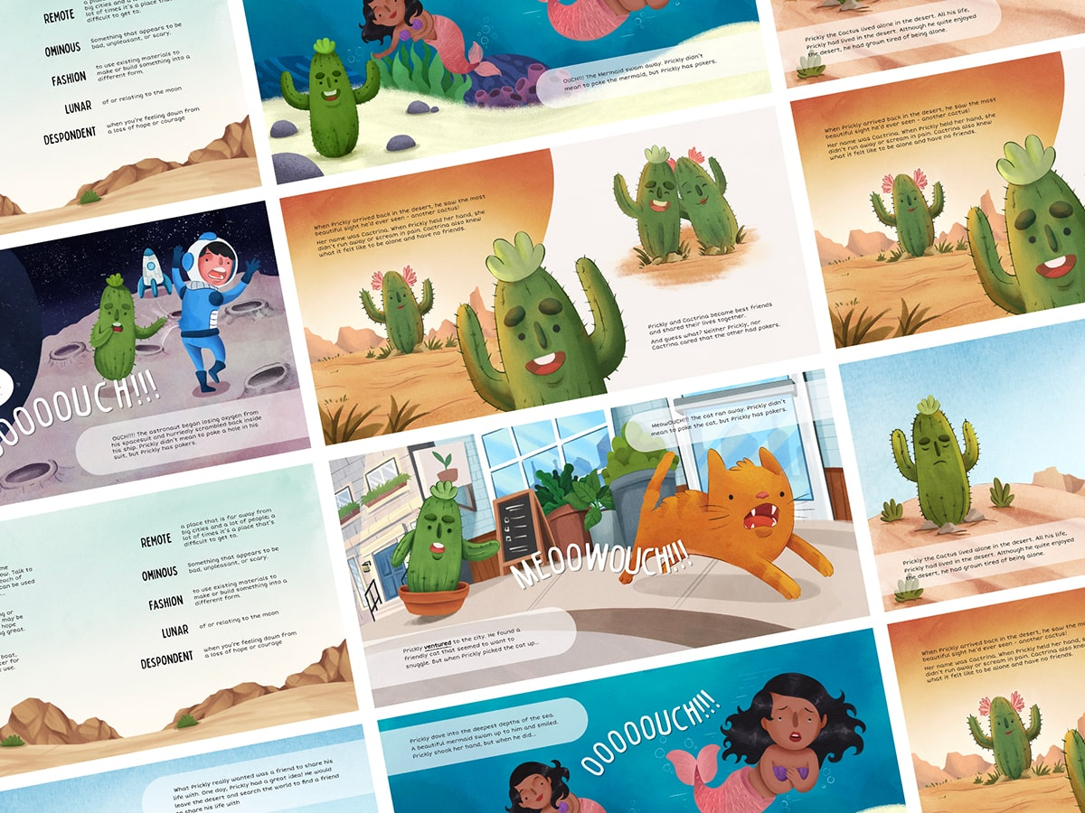 Prickly the Cactus Book Illustrations by BrandStrong