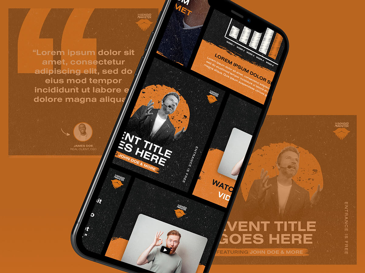 The Bearded Marketer Post Type Mockup