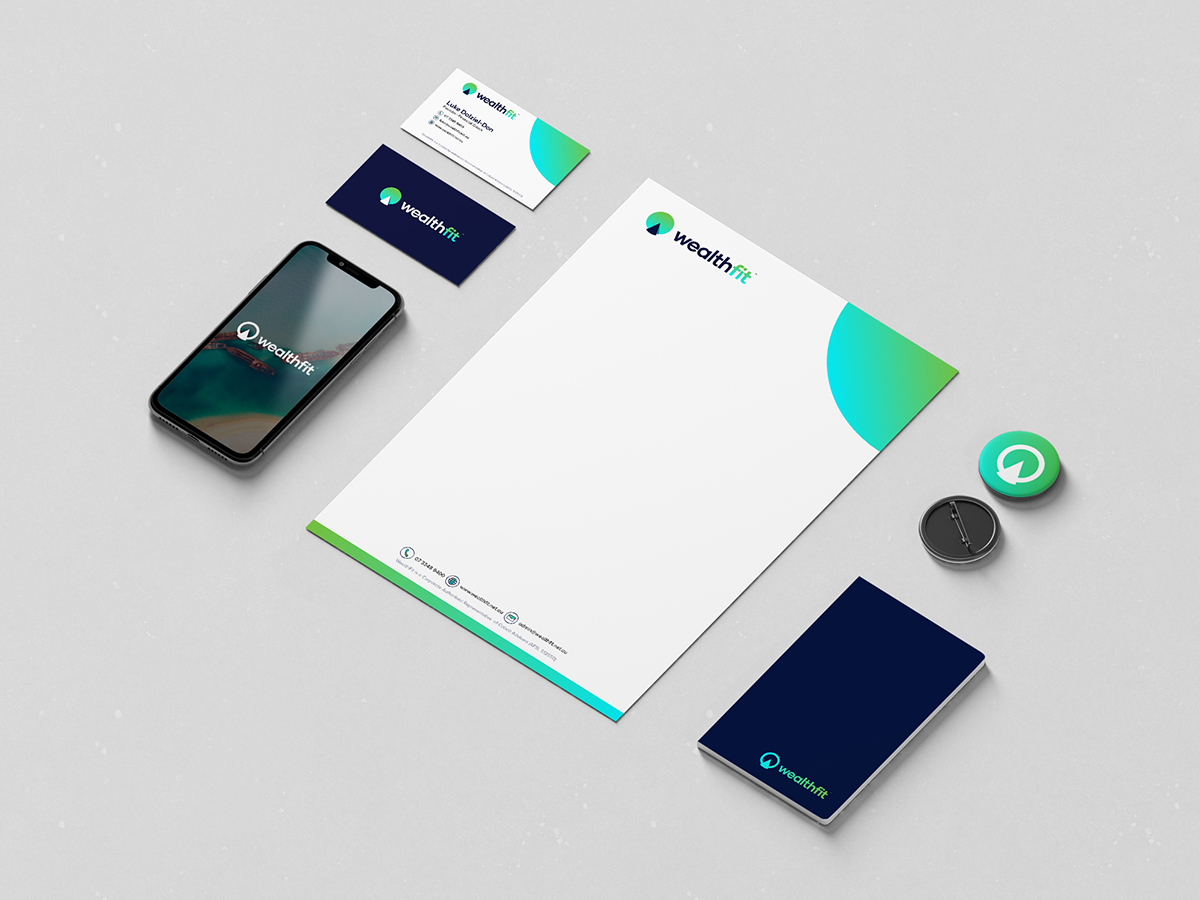 Wealthfit Stationery Design
