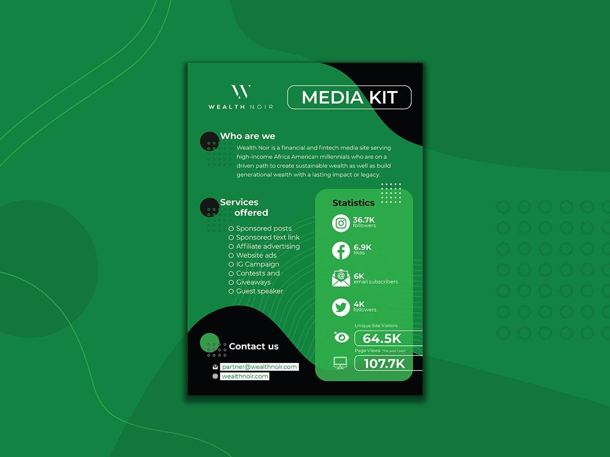 WealthNoir Mediakit Mockup