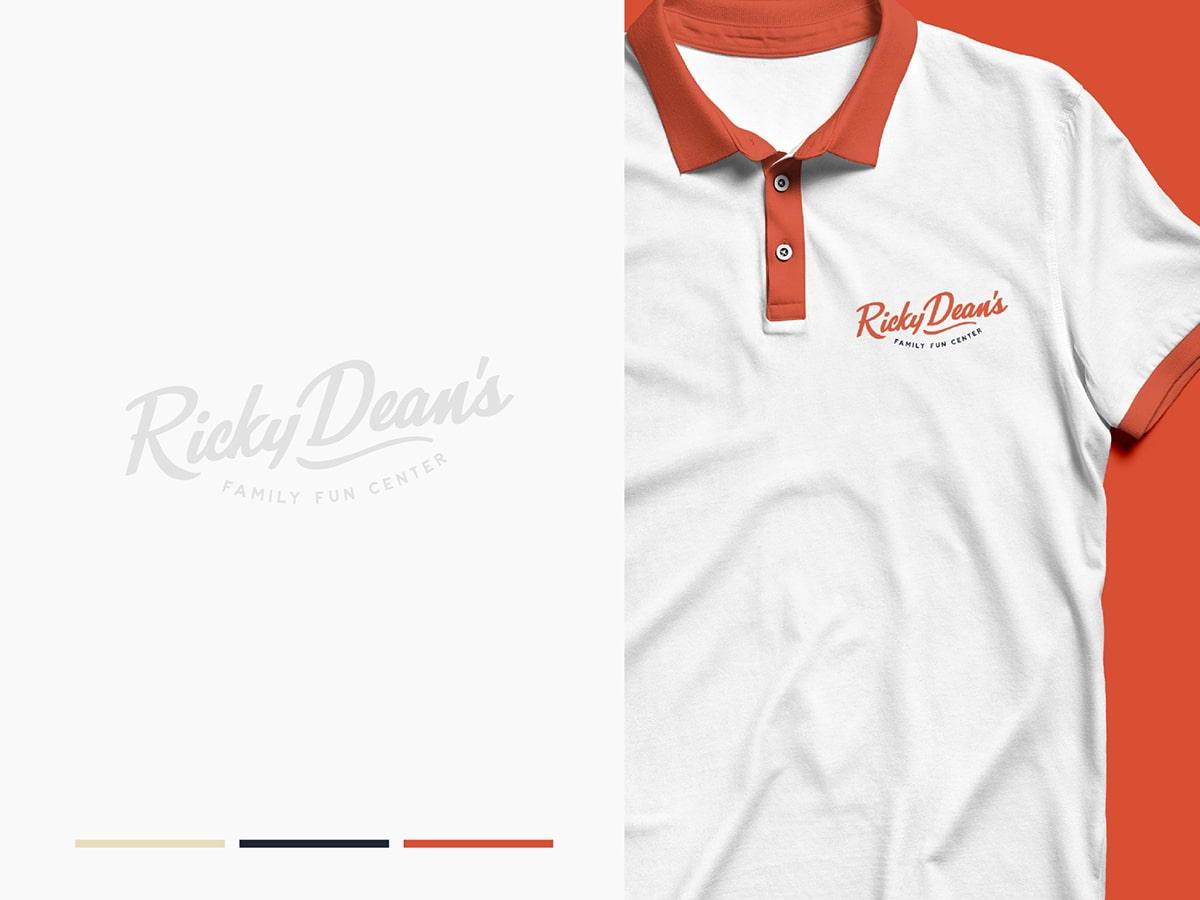 Ricky Dean's Branding on T-shirt