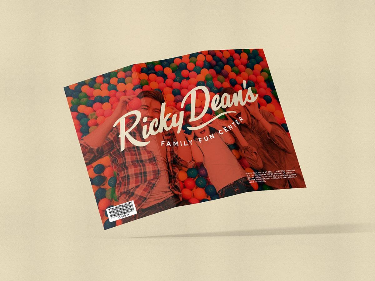 Ricky Dean's Branding across brochure