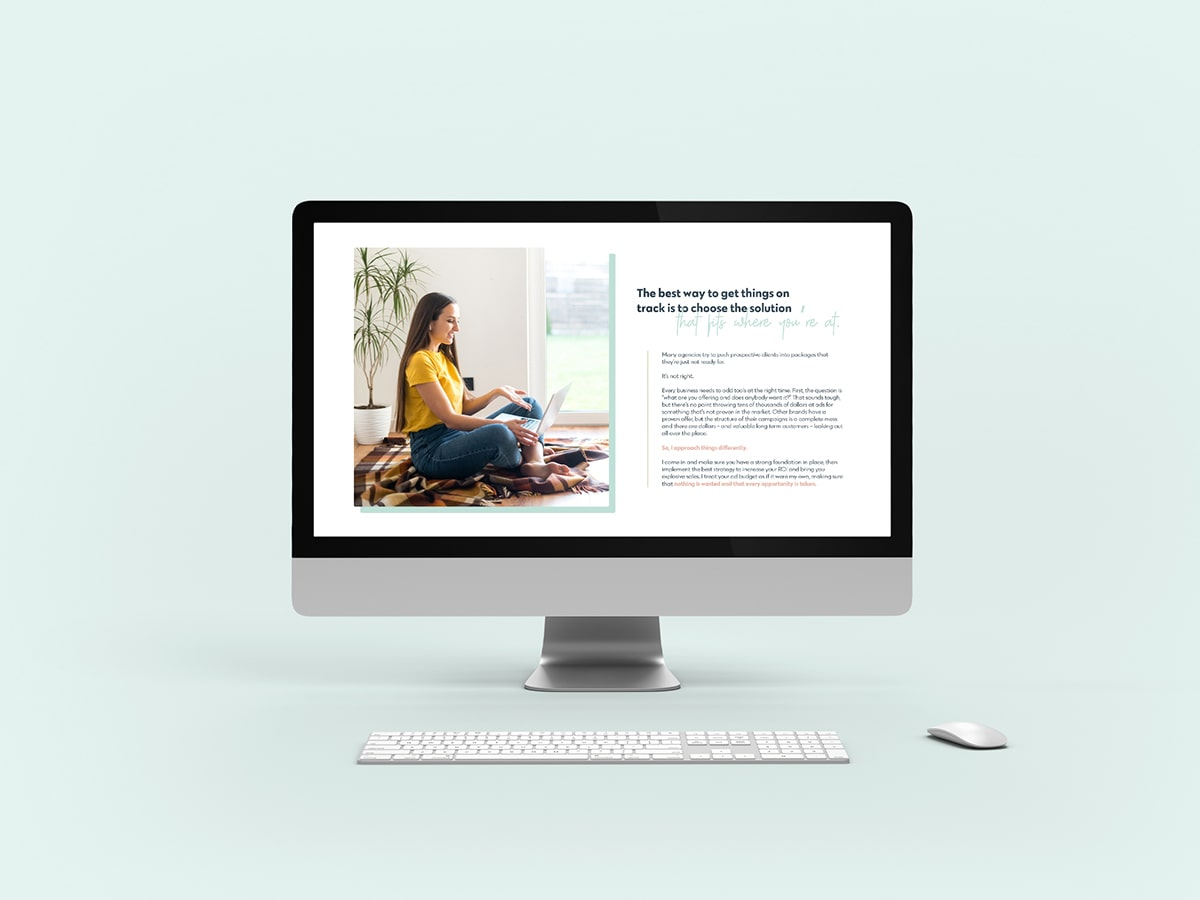 Krithy's Website mockup on a computer