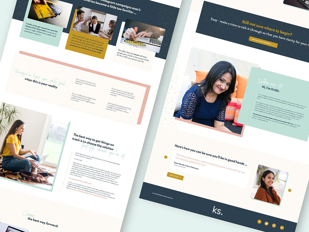 Business Coach Website Design for Krithy